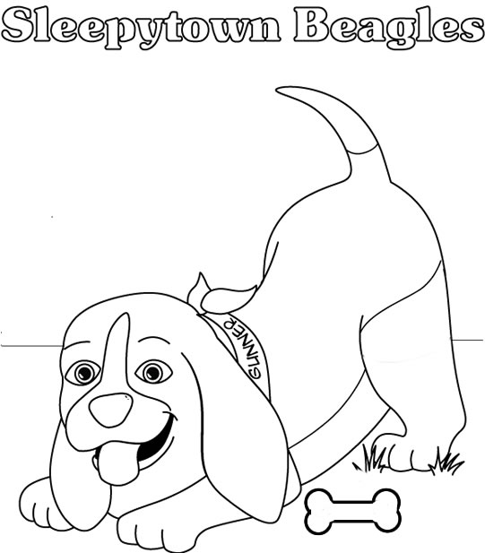 Pin Beagle Puppy Coloring Page On Pinterest Beagle Coloring Pages